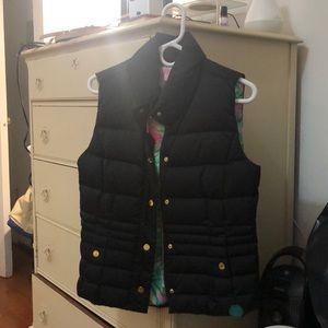 Lily Pulitzer black vest